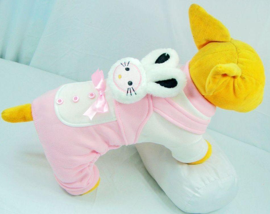供应宠物服装,2011狗狗可爱粉色小兔头