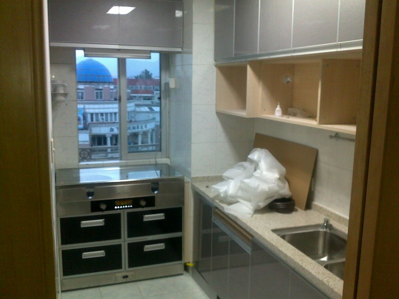 供应美大集成灶和橱柜怎么安装,美大集成灶厨房效果图