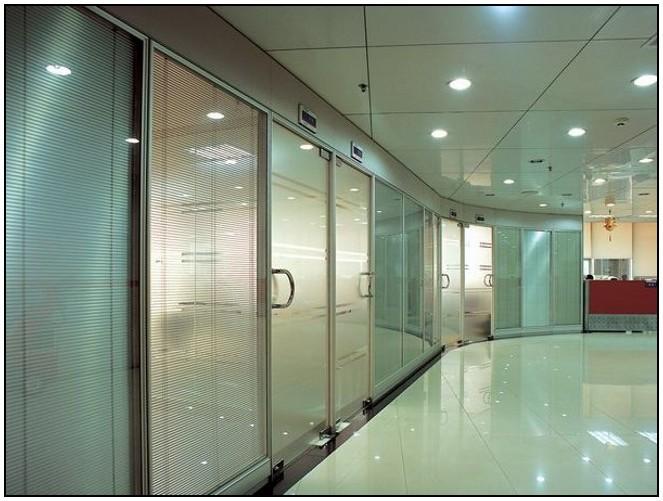 办公室磨砂玻璃隔断&办公室玻璃隔断苏州灿宇专业
