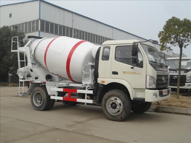 南宁哪里有卖福田时代金刚3 4方水泥搅拌车 小型混凝土搅拌车图片 搅高清图片