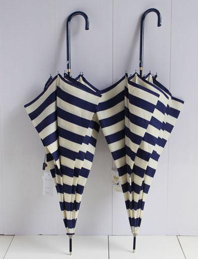 供给长柄弯钩晴雨伞水师条纹创意雨伞深圳雨伞厂来样加工定做雨伞