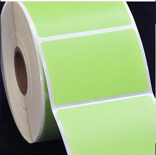 60X40mm 1000张 浅绿色铜版纸 标签贴纸 条码打印机标签纸 贴纸
