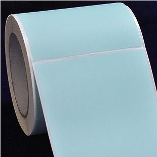 100*150mm 700张 单排 浅蓝色铜版纸 不干胶贴纸 条码打印标签纸