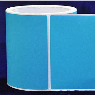 100*150*700张 浅天蓝铜版不干胶标签纸 染色外箱条码打印机贴纸