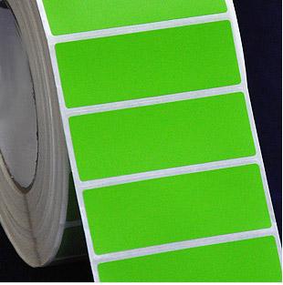 70*25*1000张 绿色铜版纸 染色不干胶 条码贴纸 条码打印纸