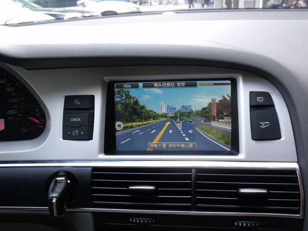 陕西豪庆奥迪a6l原车屏幕升级gps导航倒车影像全景