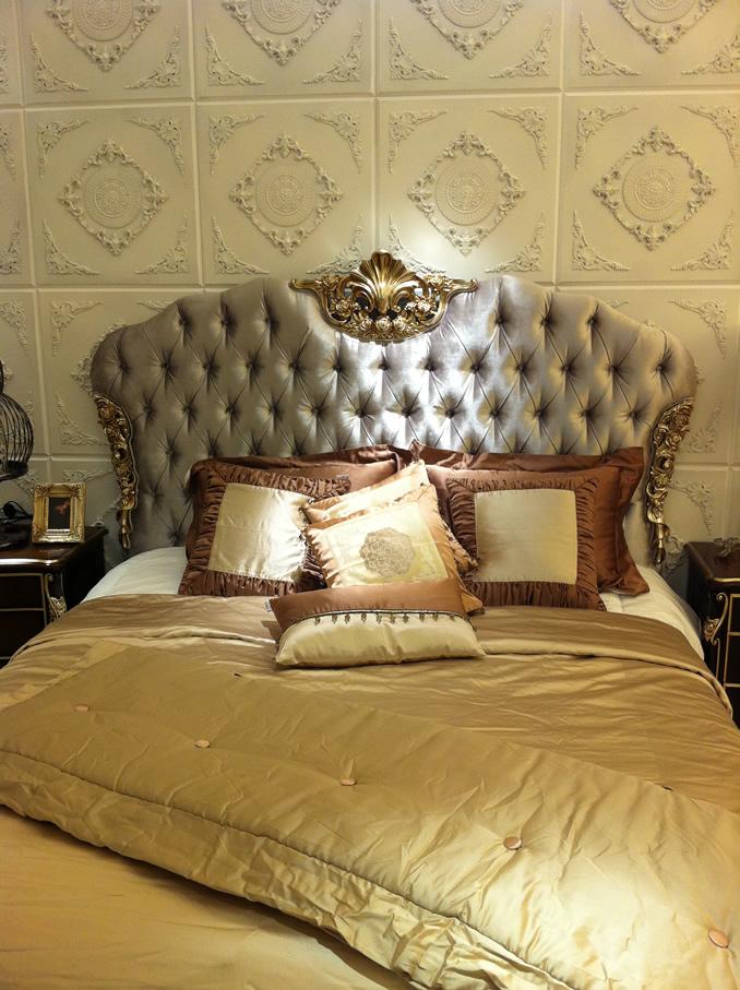 欧式酒店套房家具,欧式古典大床
