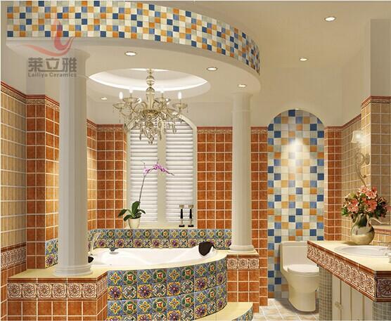 欧式腰线砖楼梯卫生间厨房瓷砖