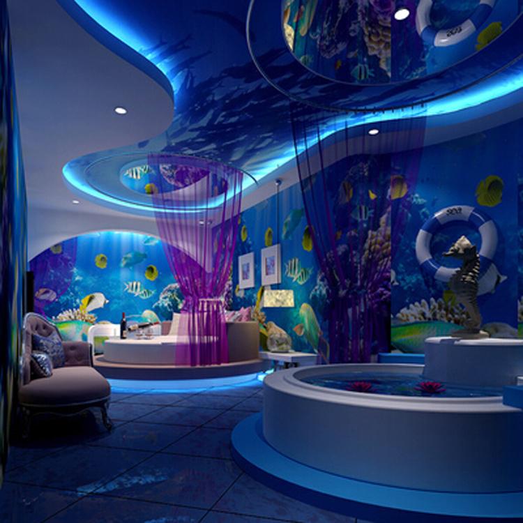 酒店大堂背景壁画|软膜天花欧式墙画|无缝壁画墙画图片