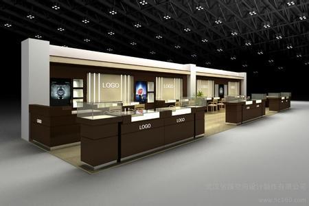 上海钟表展柜制作 钟表店设计装修