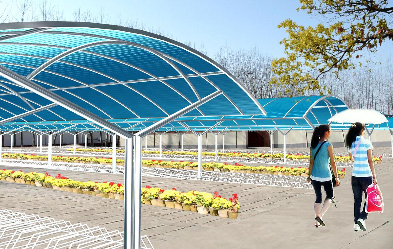 供应★青岛自行车车棚 阳光板雨棚 青岛阳光板温室