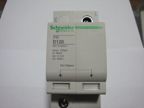 廠家生產施耐德浪涌保護器 pr-120ka/3p+n防雷器 型號