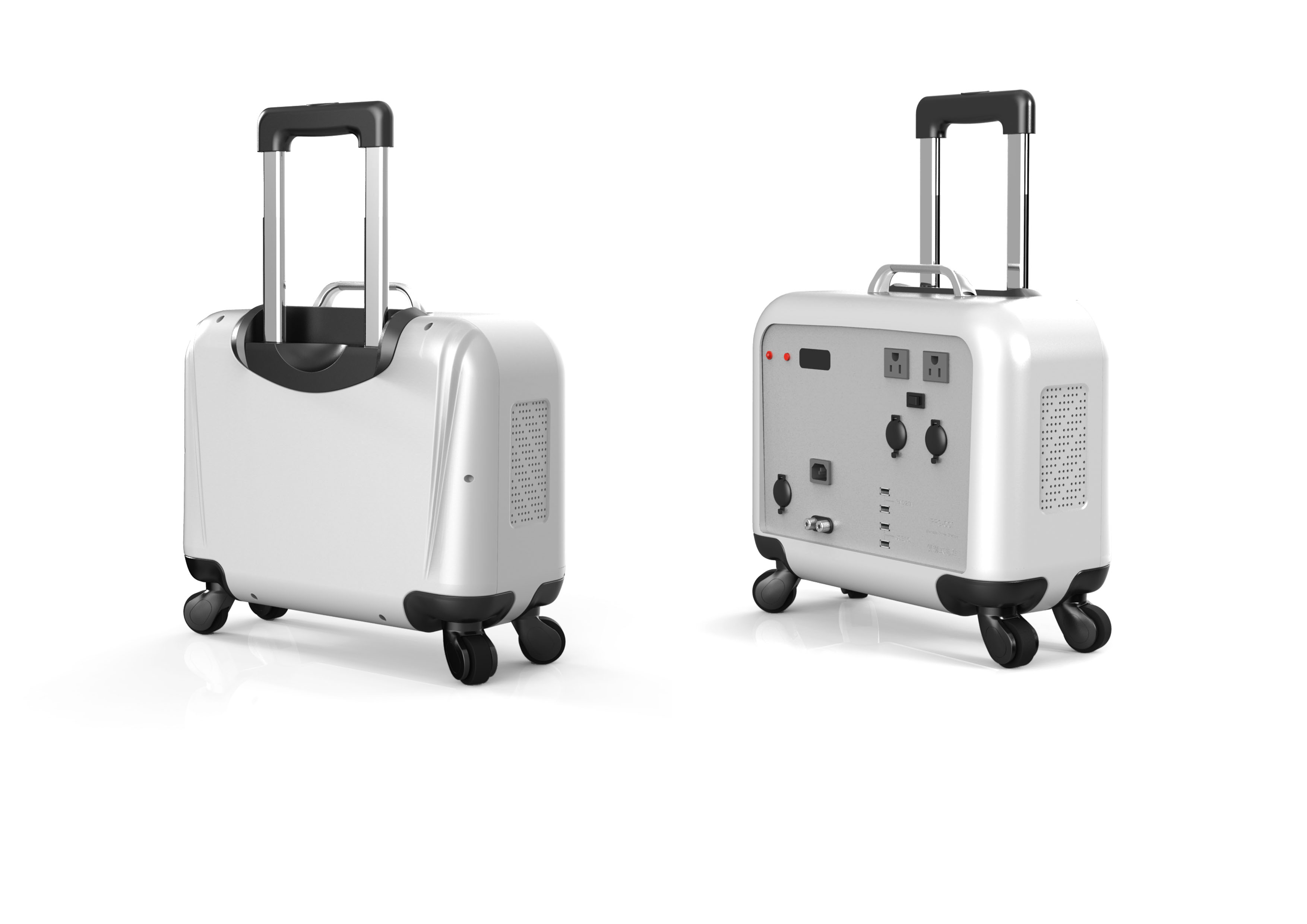 音响电源拉杆箱,工业产品设计,智能旅游箱包外观设计,机械结构设计