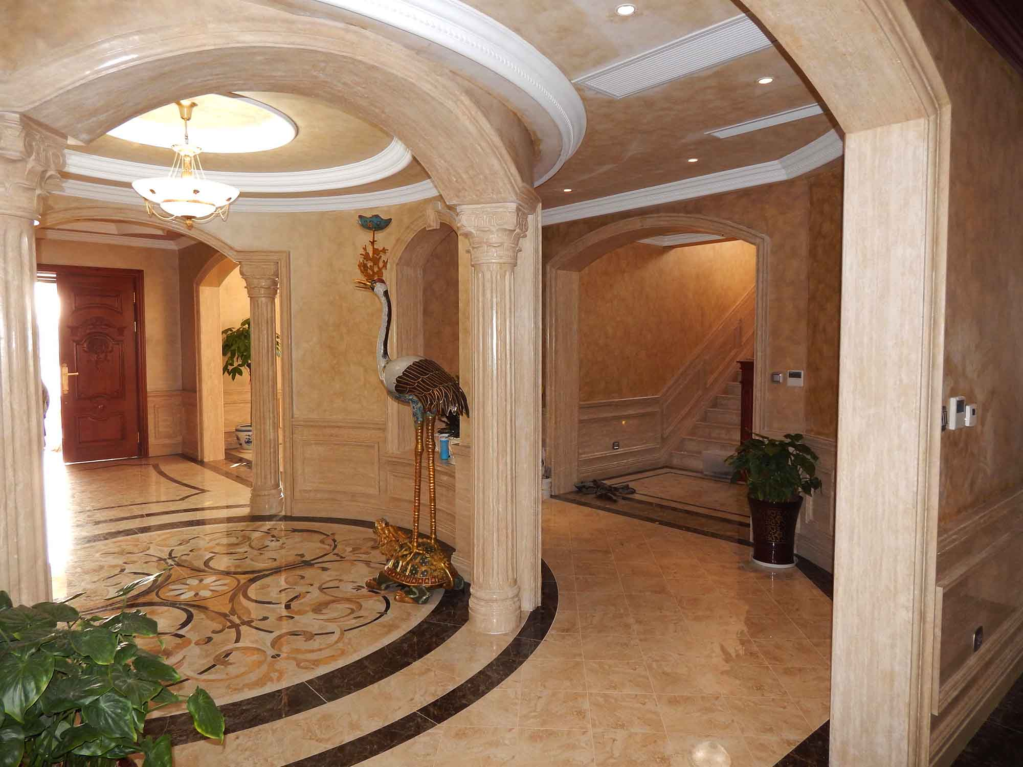 别墅,豪宅装修装饰必选配套产品--大理石罗马柱