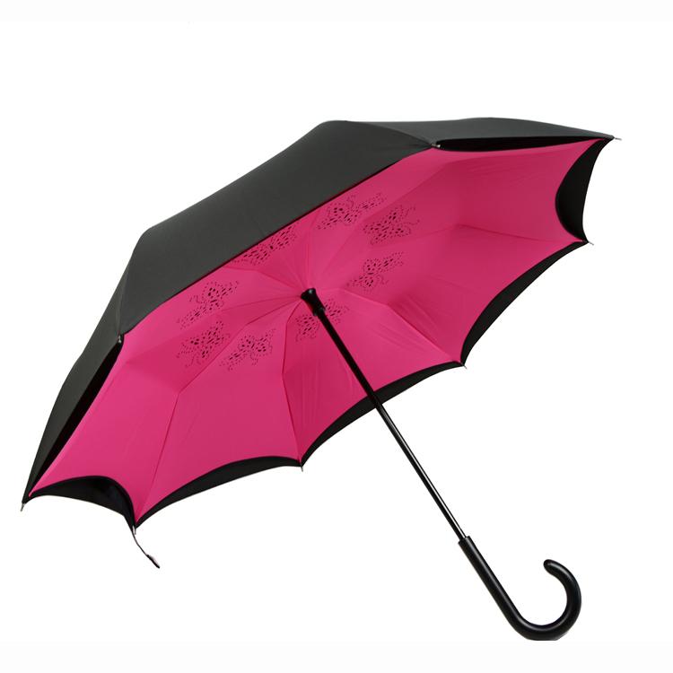 反向伞,反收伞,代客设计,免费丝印logo 添丰伞业拥有自主品牌,接受图片