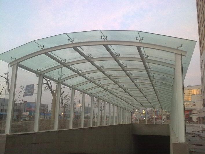 绵阳玻璃,玻璃雨棚,钢结构玻璃外墙,钢结构玻璃车篷