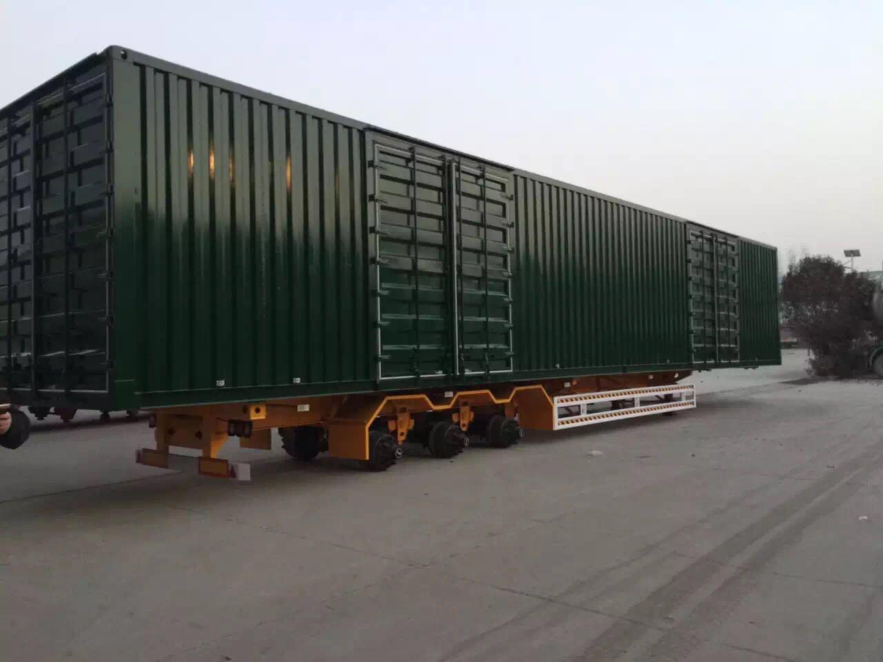 集装箱运输半挂车 物流公司专用集装箱车