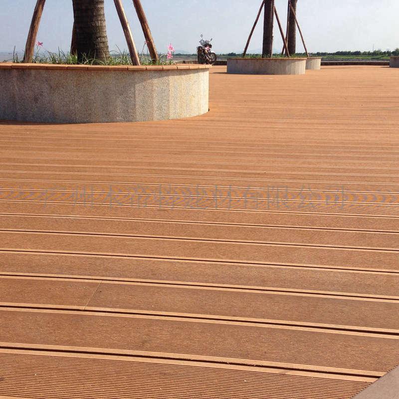 户外塑木地板园林景观地板材料 140h23b圆孔木塑地板