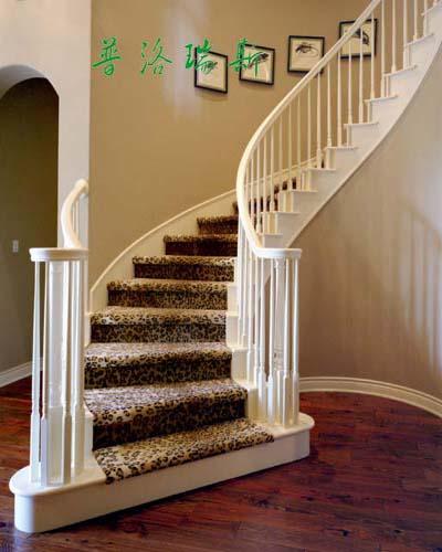 供应普洛瑞斯欧式|高档品牌|弧形实木楼梯效果图