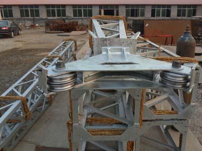 格构式内悬浮抱杆 立塔用格构式独角扒杆