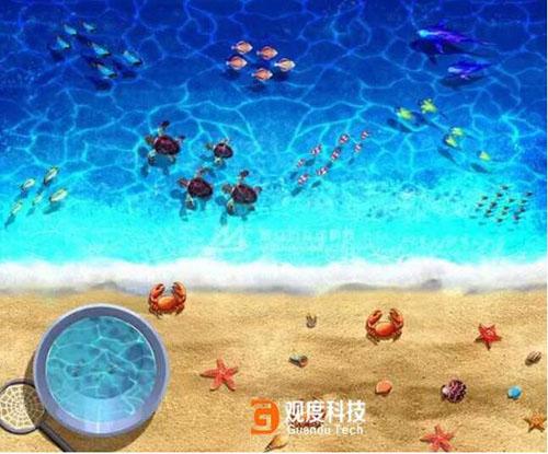 儿童互动投影沙滩室内互动沙滩游乐场