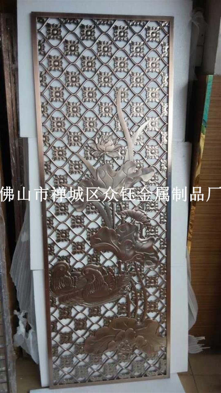 青古铜色不锈钢镂空花格 铝板镂空花格 欧式不锈钢古铜焊接屏风