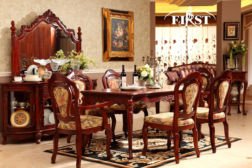 威廉桃花F09家具成套世家家具芯木餐厅欧式家具厂五星南京图片