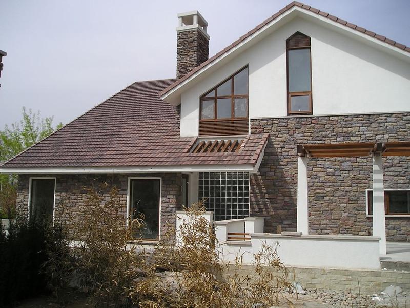 盛世卓烨英红水泥瓦 混凝土瓦 屋顶瓦 别墅瓦琴砚系列