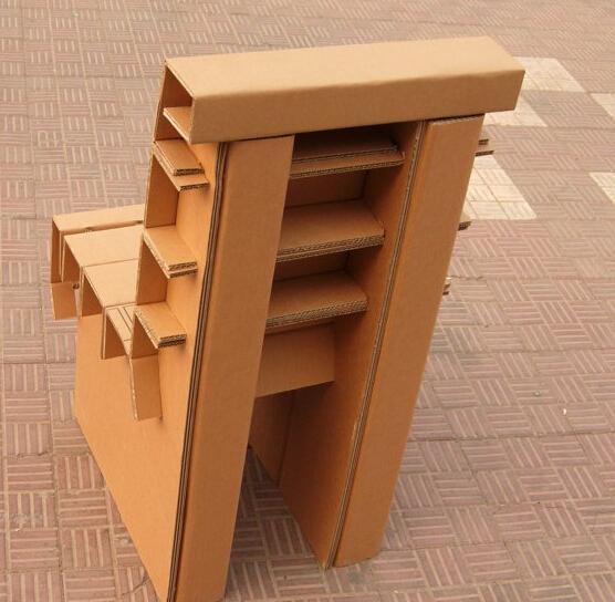 瓦楞纸椅 纸家具 创意环保椅