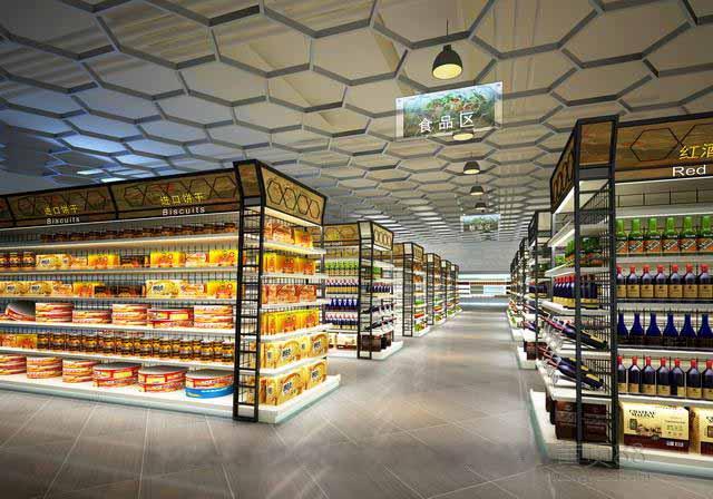 淄博超市装修设计,便利店装修设计