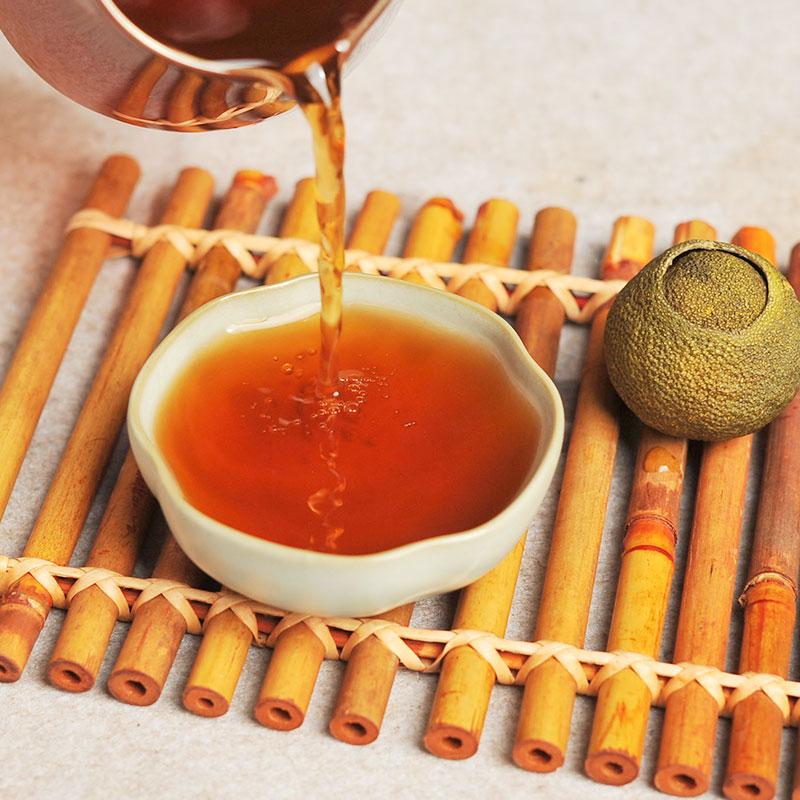 普洱茶 16年新品柑普茶陈皮熟茶新会小青柑10g云南陈年桔普茶散茶