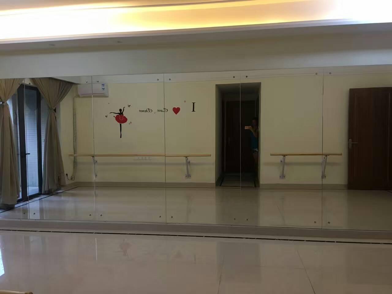 广州舞蹈室镜子健身房镜子瑜伽镜子定制安装