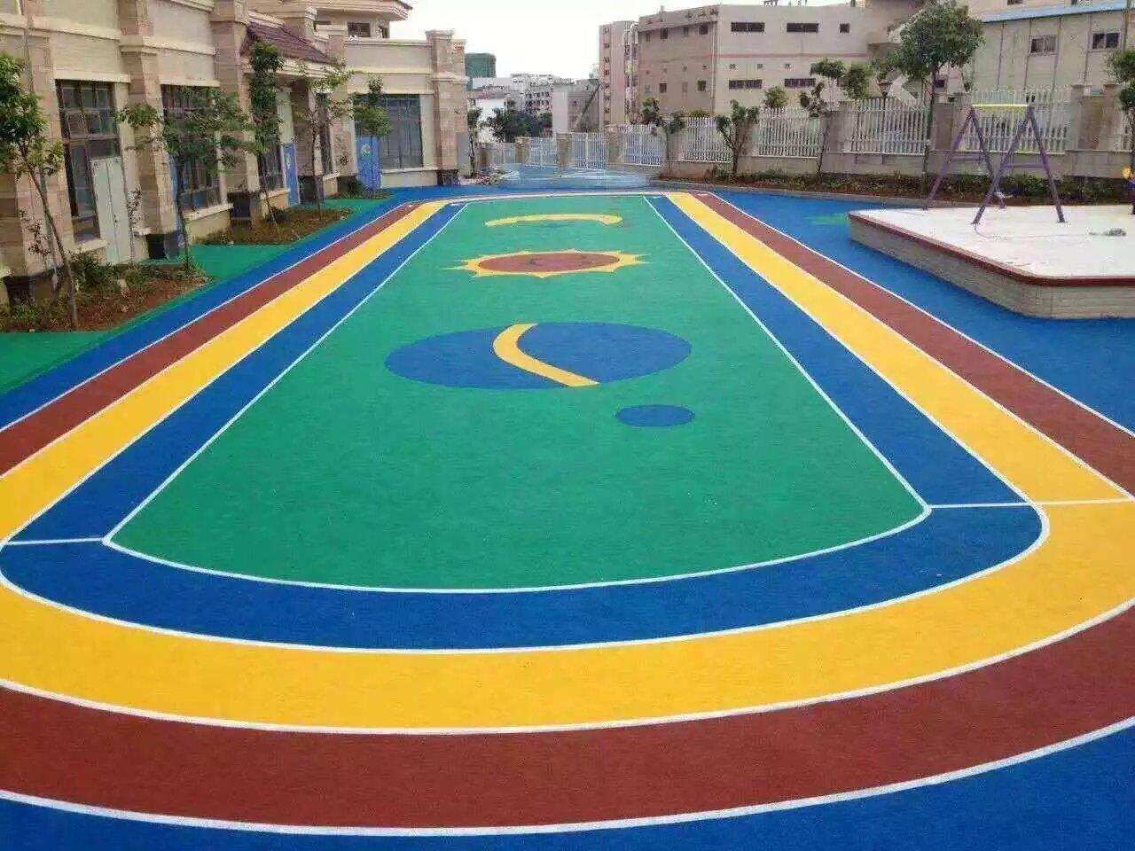 幼儿园彩色地面 epdm颗粒学校操场 小区彩色路面