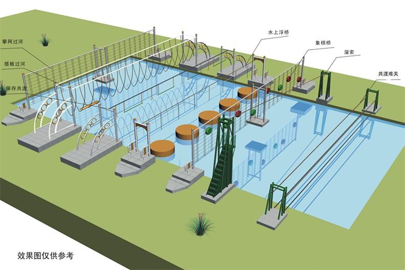 定制各种大型室外乐园 水上拓展项目组合 户外