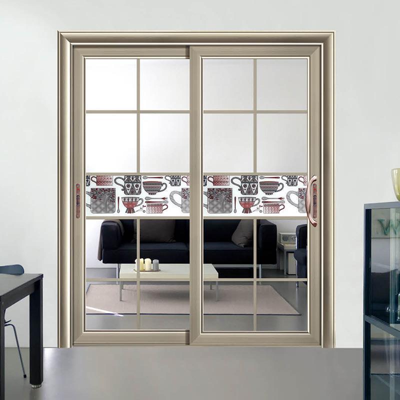 铝合金推拉门 阳台钢化玻璃四扇推拉门 客厅厨房门吊