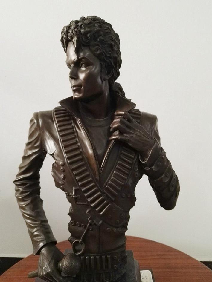 迈克杰克逊铜像 音乐人物铜雕 欧式铜摆件 铜雕工艺品