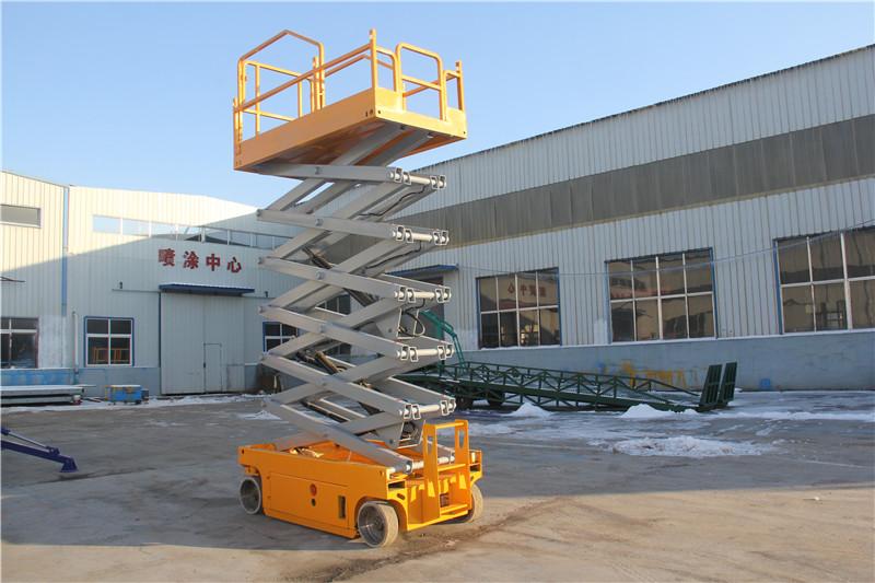 北京自行走升降机 高空作业车 电动液压升降平台 10米图片