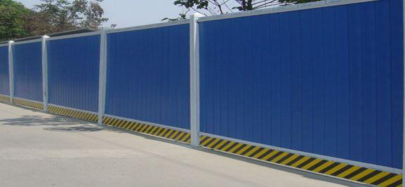 彩钢瓦围挡,南京彩钢瓦围挡价格,诚工彩板钢结构