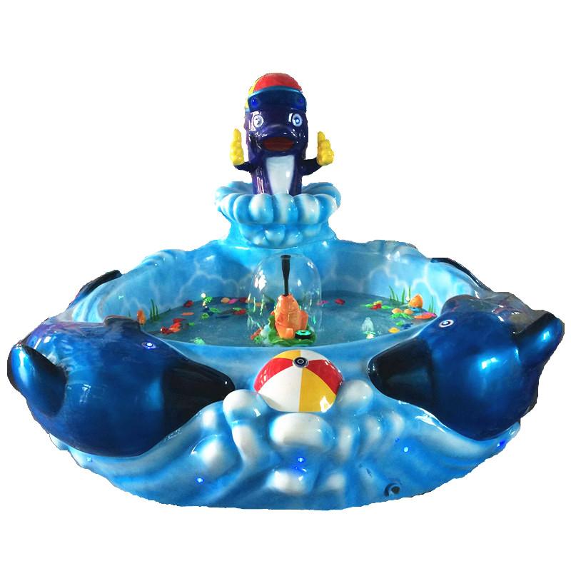 海豚鱼池玻璃钢鱼池室内鱼池淘气堡鱼池钓鱼鱼池儿童游乐园鱼池