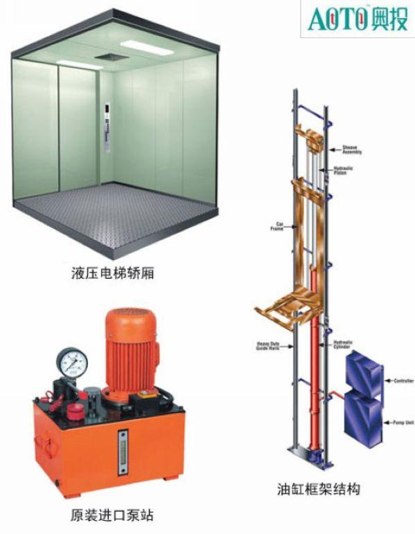 液压式别墅电梯 上海4层别墅电梯价格 液压电梯安装图片