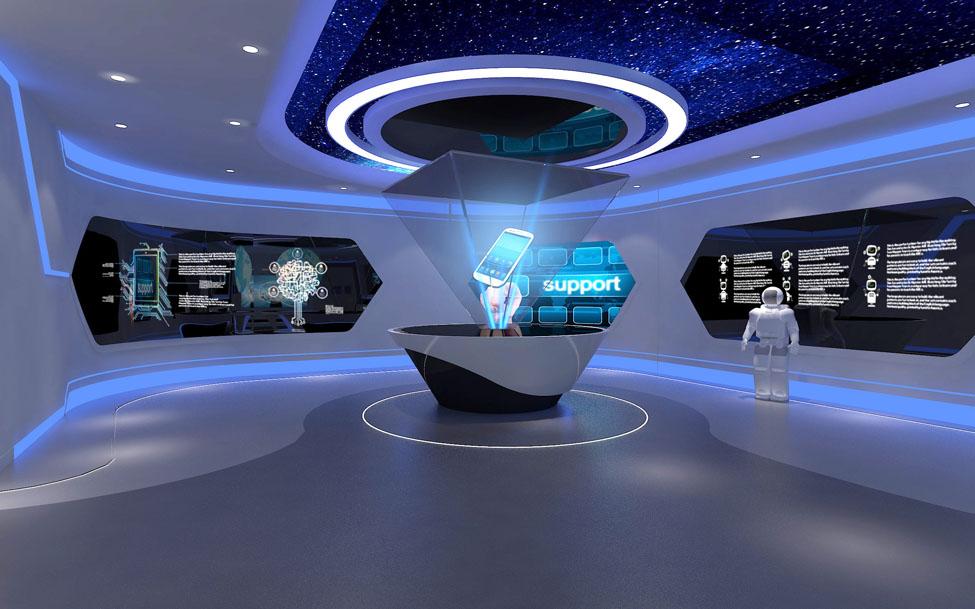 科技展厅设计 中式展厅 展览展台搭建 珠宝展示设计图片