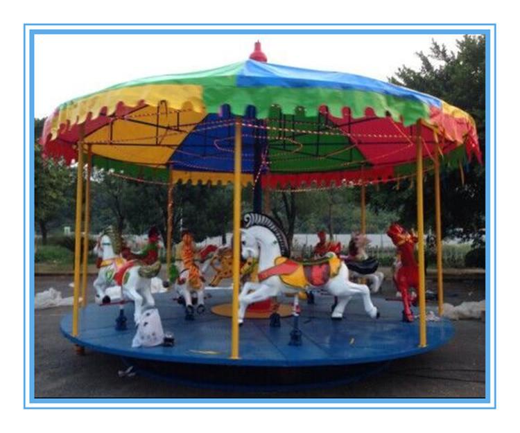 简易折叠转马 旋转木马 儿童电动木马 公园游乐设备 豪华转马
