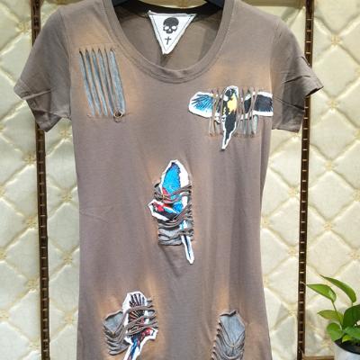 纯棉T恤时尚潮流款,品牌女装尾货,特价19.9元出货