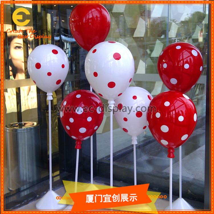 商场气球美陈DP道具订制 不漏气波点圆点气球商场陈列装饰道具制作