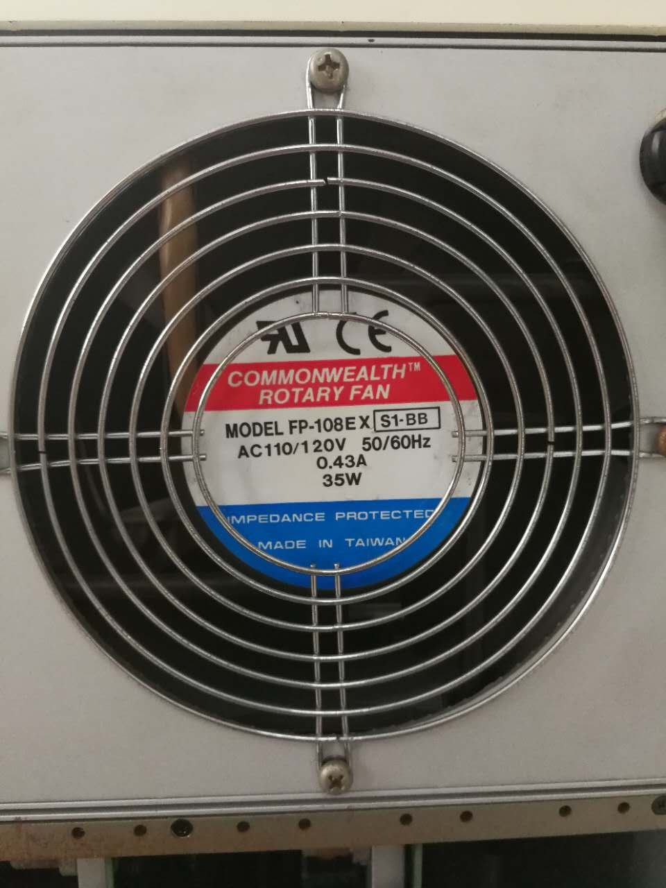 COMMONWEALTH ROTARY FAN FP-108EX 现货