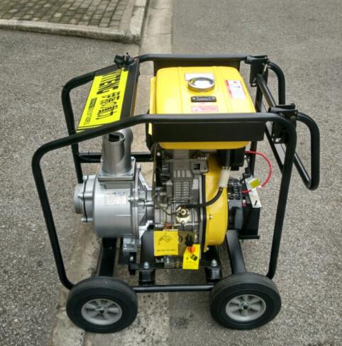防汛便攜式4寸柴油機水泵