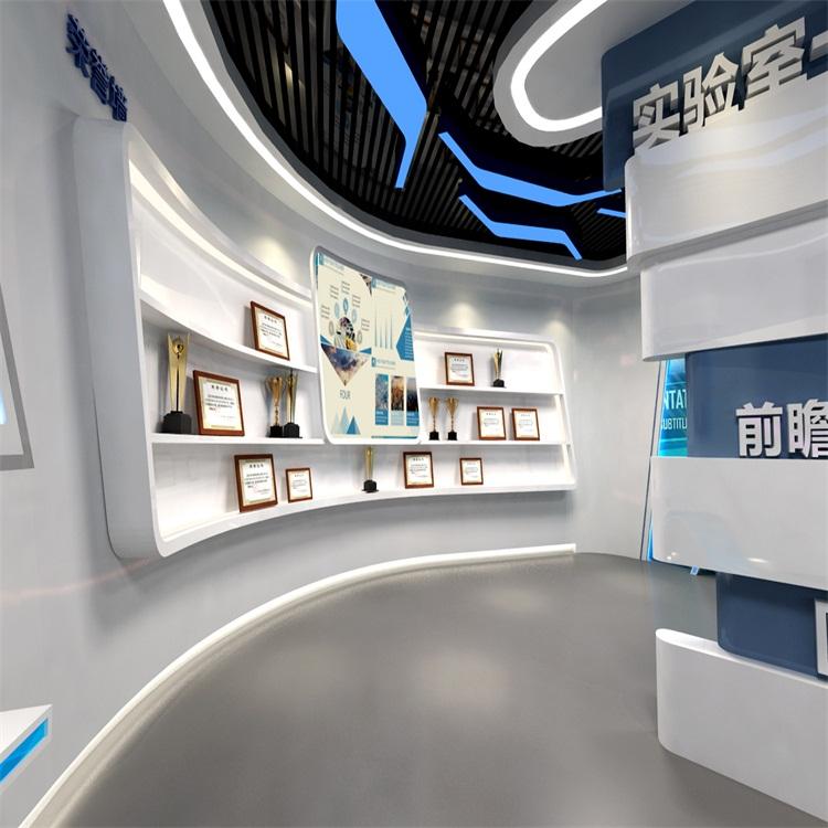 v店面店面搭建1展厅捷夫设计形象设计企业形象墙展厅设图片