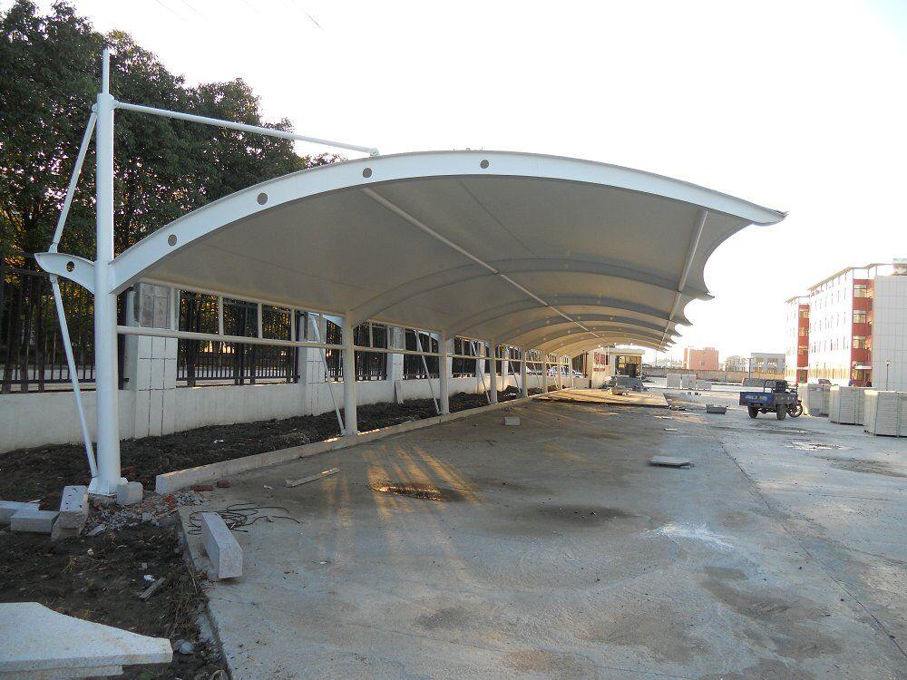 膜结构车棚 遮阳棚 景观建筑 膜材料批发销售 可定制