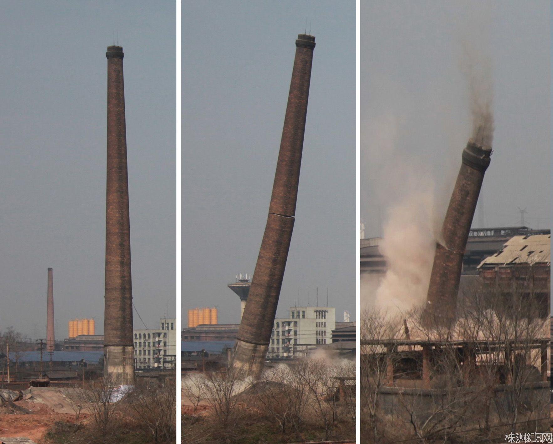 菏澤煙筒定向拆除公司