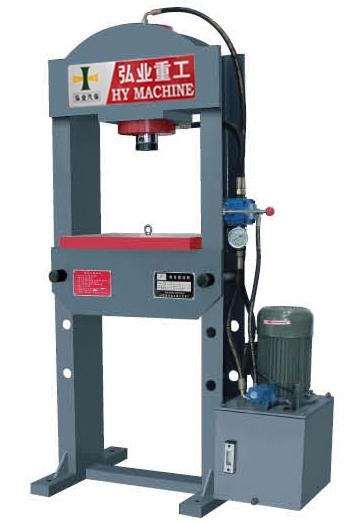 龙门液压机又叫双柱压力机可用于汽车修理对分角齿